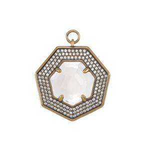 Kendra Scott Triple Pave Charm with Clear Glass
